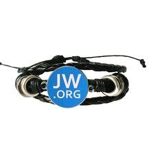 JW .Org Charm Leather Bracelet No BLOOD Bangle Jehovahs Witnesses Glass Photo Cabochon Bracelets Jewelry For Girl