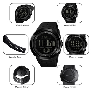 Image 3 - Мужские цифровые часы, водонепроницаемые часы с компасом, калорий, секундомером, спортивные наручные часы, модный мужской браслет, топ бренд, часы SKMEI