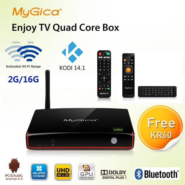 XBMC Fully Loaded ! Geniatech MyGica Amlogic M8 Quad Core Android 4.4 TV Box ATV1800E 2G/16G Google Media Player  Smart tv box