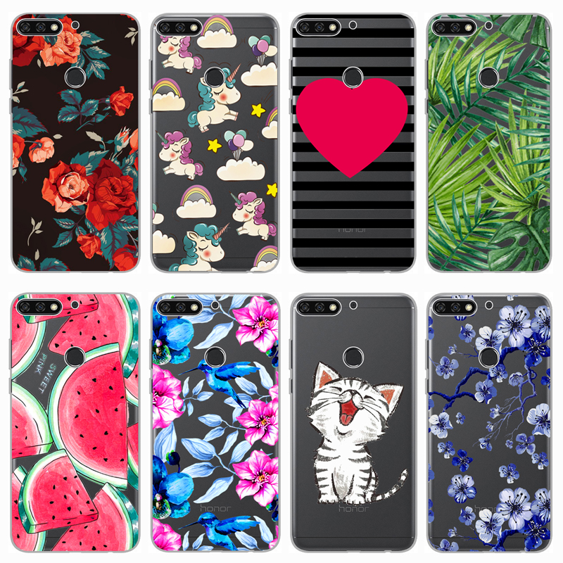 For Huawei Y7 Prime 2018 5.99 Inch Case Cover Soft Silicon TPU Printing Phone Back Protective Case For Huawei Y7 Prime 2018