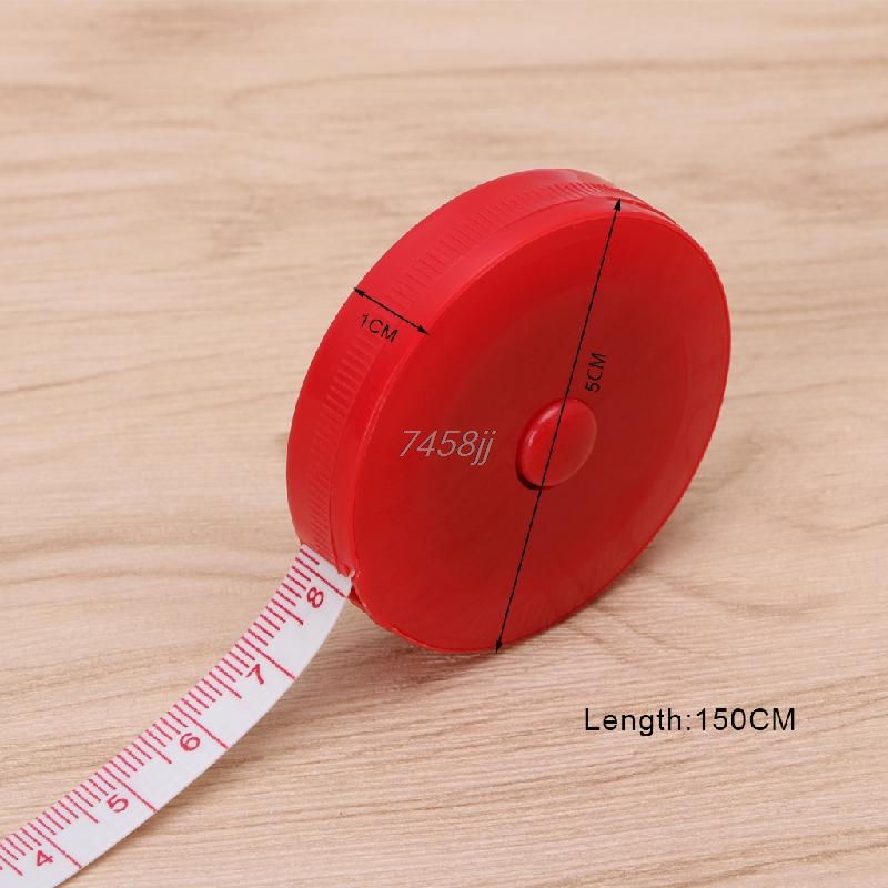 """1PC Mini Tape Measure Retractable Ruler Tool Sewing Cloth Tailor Dieting 1.5m 60"""" G03 Drop ship"""