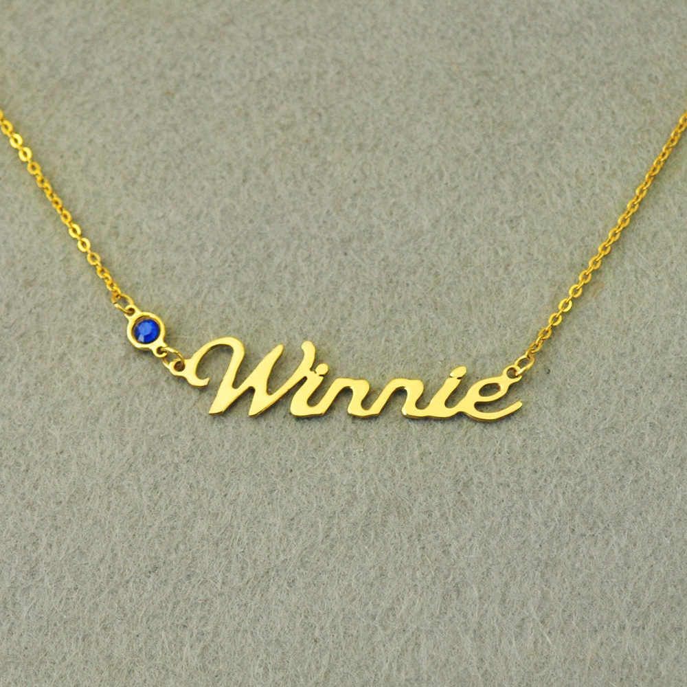 купить Personalized Name Necklace, Birthstone Necklace, Custom Names Necklace, Personalized Names Jewelry, Birthday Gift for Her по цене 543.3 рублей