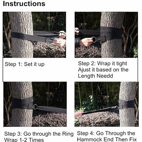 Hammock Hanging Belt Tree Strap Nylon Rope Outdoor Camping Tool with Buckles