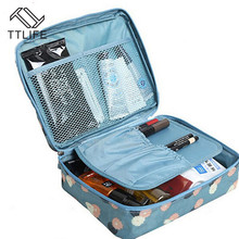 TTLIFE Flower Oxford Cloth Cosmetic Bag Makeup Case Women Wash Toiletry Zipper Organizer Storage Travel Kit Multi Pocket