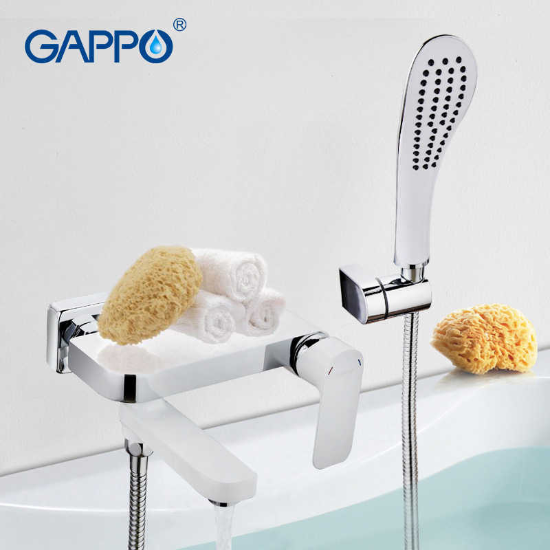 GAPPO bathroom shower taps Bathtub Faucet tap bathroom shower faucet set waterfall bath sink faucet water mixer sink tap GA3248 gappo bathtub faucet bath shower faucet waterfall wall shower bath set bathroom shower tap bath mixer torneira grifo ducha