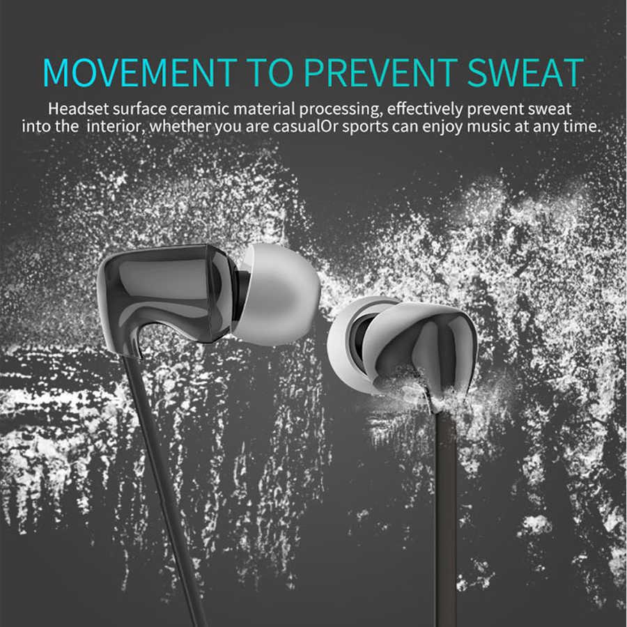 CBAOOO TC Ceramic Sport Bluetooth Earphone Wireless Headphone Stereo Waterproof Hi-Fi Stereo Bass Music Headset with Microphone