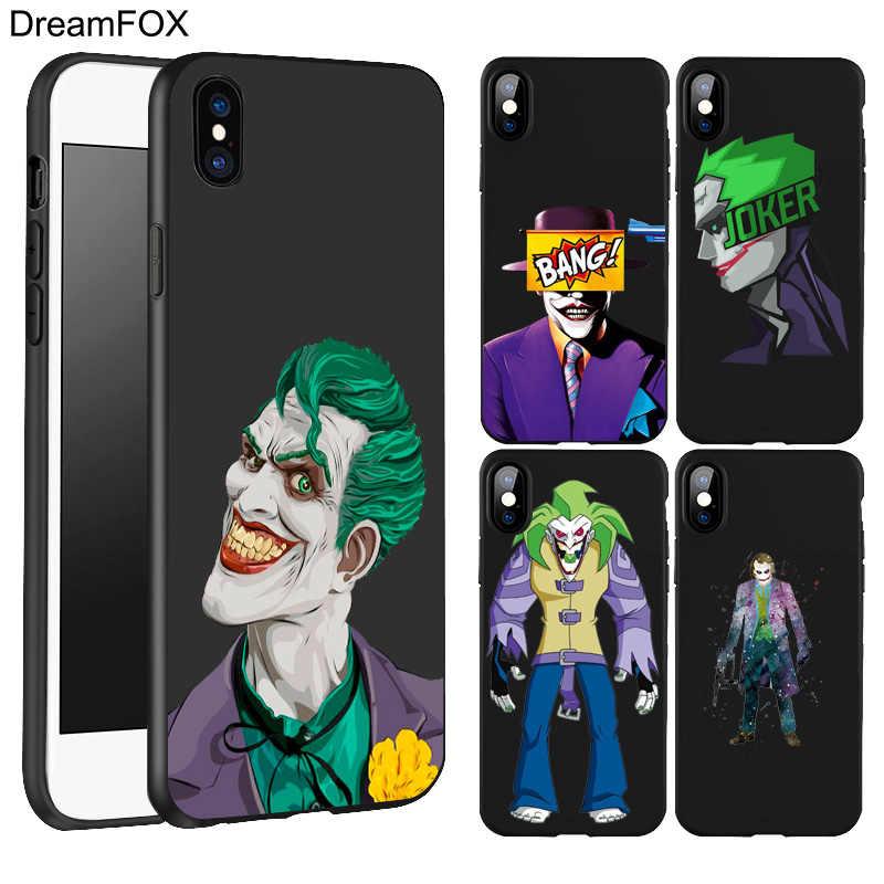 DREAMFOX L060 ナイトジョーカーハーレークイン黒ソフト Tpu シリコンケースカバー apple の iphone 11 プロ XR XS Max X 8 7 6 6S プラス 5 5S 5 グラム SE