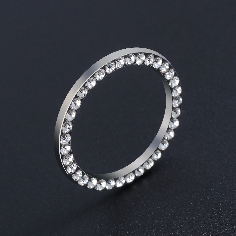 HTB1.ZQybbSYBuNjSspiq6xNzpXa1 Car SUV Bling Decorative Accessories Automobiles Start Switch Button Decorative Diamond Rhinestone Ring
