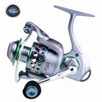 TEBEN CBS Spinning Fishing Reel 5.2:1 8BB Full Metal Wheel Saltwater Aluminum Spool Carp Fishing Tackle & Free Metal Leg 300 500