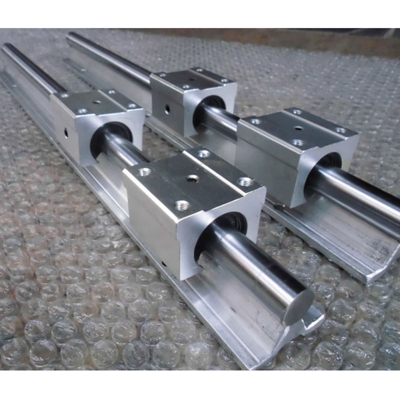10mm Linear Rail SBR10 Length 500mm 2pcs Cylindrical Guides and 4pcs SBR10UU Linear Bearing Blocks for CNC Parts Linear Guide high precision low manufacturer price 1pc trh20 length 1000mm linear guide rail linear guideway for cnc machiner