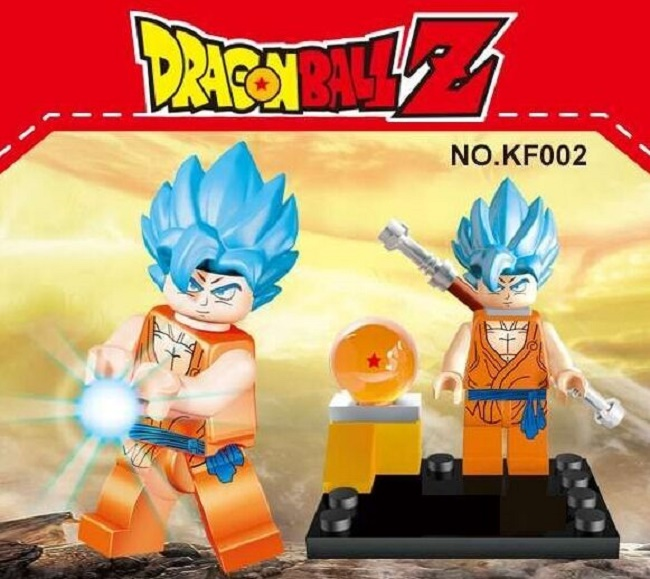 Single Sale KF002 Building Blocks Super Heroes Dragon Ball Z Goku Figures Son Vegeta With Ball Bricks education childrens Toys