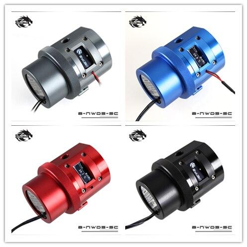 Bykski  Water Cooling D5 Pump with Temperature Sensor Display D5 cooler Blue,Red,Grey,Black B-NWD5-SC/ B-PMD5-NXBykski  Water Cooling D5 Pump with Temperature Sensor Display D5 cooler Blue,Red,Grey,Black B-NWD5-SC/ B-PMD5-NX