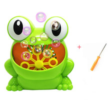 New Cute Frog Automatic Bubble Machine Blower wedding Maker Party Summer Outdoor Toy for Kids bubble machine wedding 8 pcs lot 35w bubble machine remote control wireless bubble machine bubble blower maker for stage party wedding concert