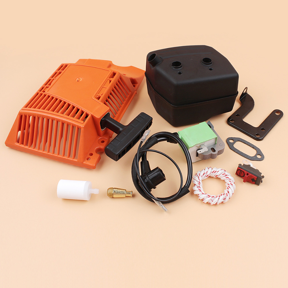 Tools : Recoil Pull Starter Ignition Coil Muffler Kit Fit HUSQVARNA 268 272 272XP Chainsaw Spare Parts 503615571
