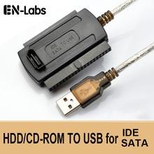 """En labs 3 in 1 usb 2.0 ide/sata 2.5 """", 3.5"""" 하드 드라이브 디스크 hdd ssd 480 메가바이트/초 데이터 인터페이스 변환기 어댑터 케이블"""