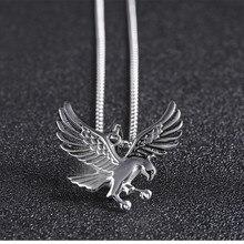 Eagle Pendant Necklace Biker Jewellery Mens Fashion Animal Jewelry 2019 Wholesale a lot Retro Style Chain Hawk Wing