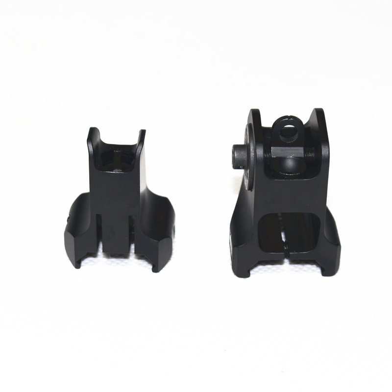 Image 4 - Tactical Fixed Front Rear Sight Streamline Design Standard AR15 Apertures Iron Sights Hunting Airsoft Accessories-in Paintball Accessories from Sports & Entertainment