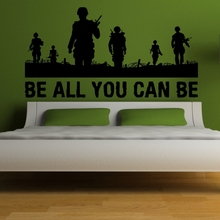 Free shiping diy sticker ARMY Quote Vinyl Wall Decal PVC Sticker Art Mural Home Decor Wallpaper Decoration