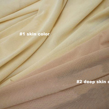 587edceed 4 way stretch nylon mesh fabric soft birdeyes lining underwear stockings  skin color knit mesh material