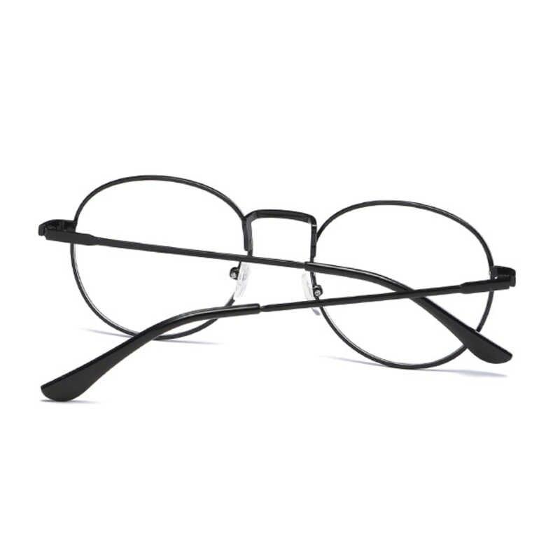 Neue Designer Frauen Brillen Optische Rahmen Metall Runde Brille Rahmen Klare Linse Eyeware Schwarz Silber Gold Auge Sonne Glas