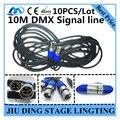 10 ШТ./10 М 15 М 20 М DMX сигнала линии LED PAR Сигнала линия металла РЛ DMX 3-КОНТАКТНЫЙ кабель профессиональный освещение сцены dj оборудование
