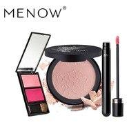 MENOW Brand Make up set Natural Blush Plate &High quality Face Matte Powder & moisturizing Lip gloss Wholesale 5387