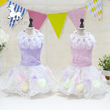 Spring/Summer Cute Dog Clothes For Small Dogs Wedding Dress Skirt Summer Luxury Princess Pet Clothes Lace Flowers design