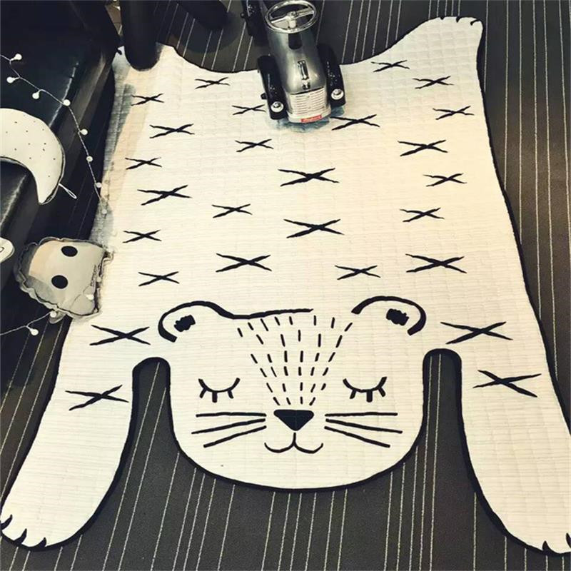 Nordic Ins Tiger Shape Carpets for Living Room Baby Rugs Soft Kids Bedroom Carpet Floor Cotton Carpets Creative Kids Play Mat