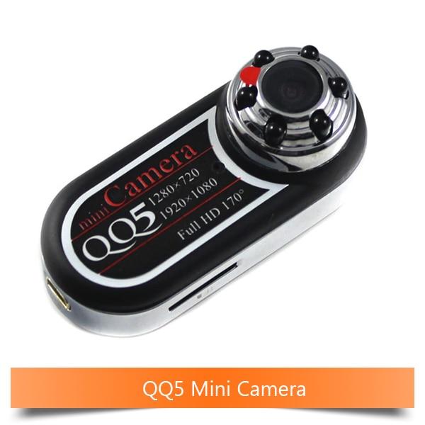 10PCS Mini Portable QQ5Full HD 12MP 170 Ultra Wide Angle Motion Detector Infrared Mini DV Camera