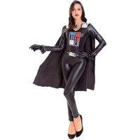 Women Commander Darth Vader Costume Movie Star Wars The Force Awakens The Evil Darth Cosplay Halloween