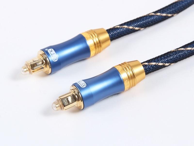 OD6.0mm Alta calidad Azul Digital Óptica óptica Fibra Toslink Audio - Cables de computadora y conectores - foto 4