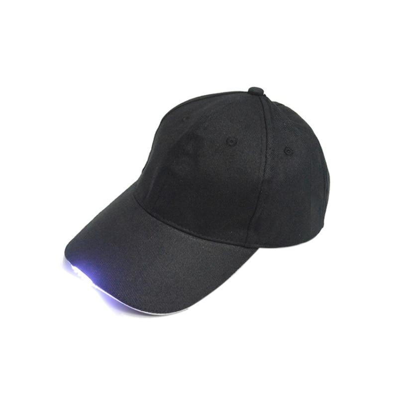 LED Flashlight Fishing Hat Sport Baseball Caps Night Walking Hiking Hunting Cycling  Hats 3 Colors