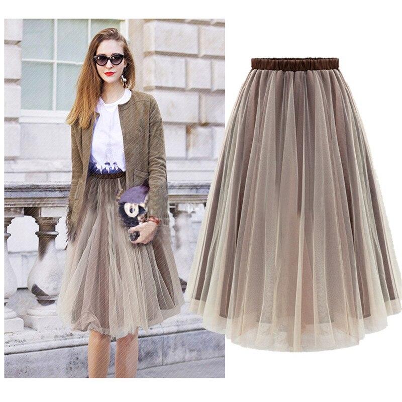 cdc0bf824 Primavera 2017 nueva moda faldas estilo de moda big swing Mujer faldas  Mujer verano jupe alta ...