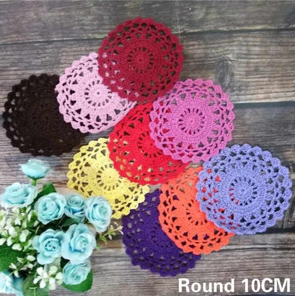 10cm Round Vintage Cotton Lace Placemat Crochet Doily Table