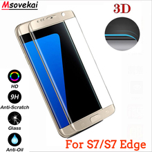 hot deal buy tempered glass for samsung galaxy s7 9h 3d curved full coverage for samsung galaxy s7 edge case screen protector protective film