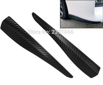 4pcs(2 SET) Car Styling Mouldings Bumper Corner Guard Protector Carbon Fiber Look sticker FIT for Subaru Outback Legacy Foreste image