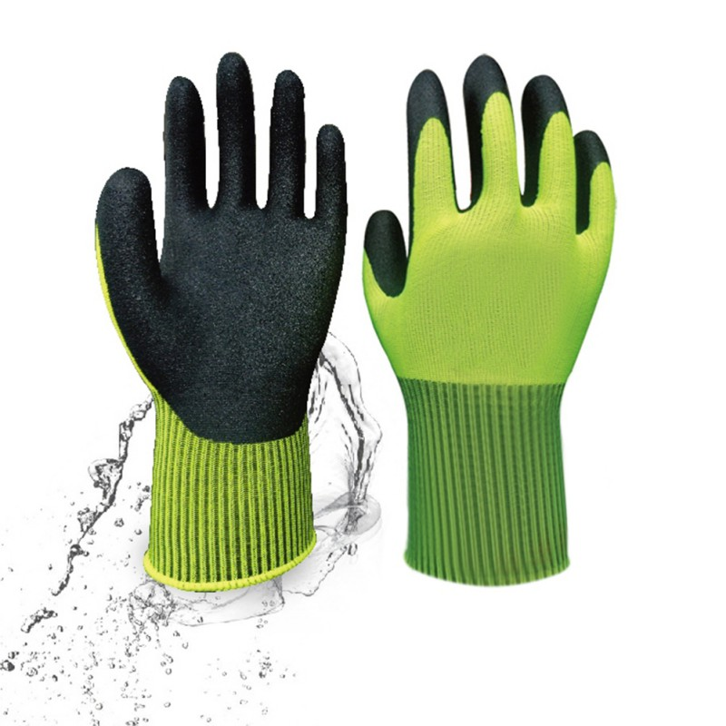 Gardening Gardening Wearable Raking Digging Planting Latex Work Glove Butyronitrile Non-slip Hand Protection Garden Gloves