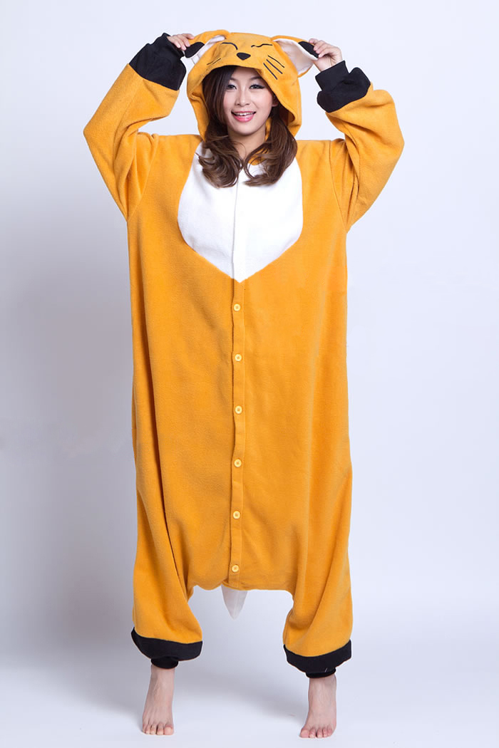 +New Adult Unisex Fashion Pajamas Cosplay Cartoon Japan Costume Cute Fox Animal Onesies Pyjamas Sleepwears - RUBY TOP 2 store