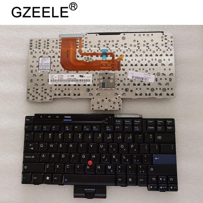 GZEELE nouveau clavier d'ordinateur portable US pour IBM pour Lenovo pour ThinkPad X300 X301 anglais clavier d'ordinateur portable US disposition 42T3617 42T3584