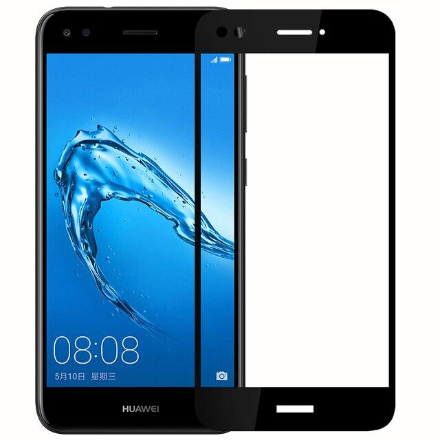 Para Huawei P9 Lite Mini vidrio templado 9H 3D cubierta de pantalla completa película protectora de pantalla a prueba de explosiones para Huawei P9 Lite Mini