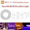 Original xiaomi música yeelight 2 m 16 milhões de cores rgb cenas inteligente wi-fi inteligente led luz de tira flexível 60 led