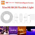 Original xiaomi música yeelight 2 m 16 millones de colores rgb de escenas inteligente wifi inteligente llevó la luz de tira flexible de 60 led