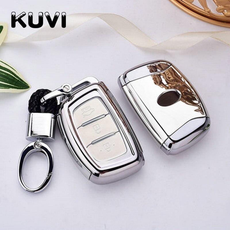 Hight quality TPU Key Fob Shell Cover Case For Hyundai Creta I10 I20 Tucson Elantra Santa Fe 2016 2017 2018 key case keychain