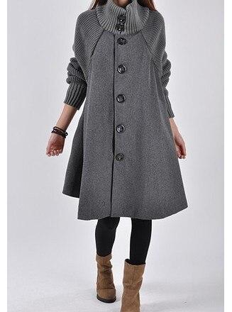 979203e8a Nouveau Mode De Nice Hiver Manteaux Femme Manches Longues Femme ...