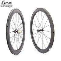 700C Full Móc Sắt Bánh Xe và Lốp Xe 50 MÉT Sâu 23 mét Rộng Front Rear Wheel Bánh Xe Đạp Carbon Wheels Road Bike Carbon Wheelset
