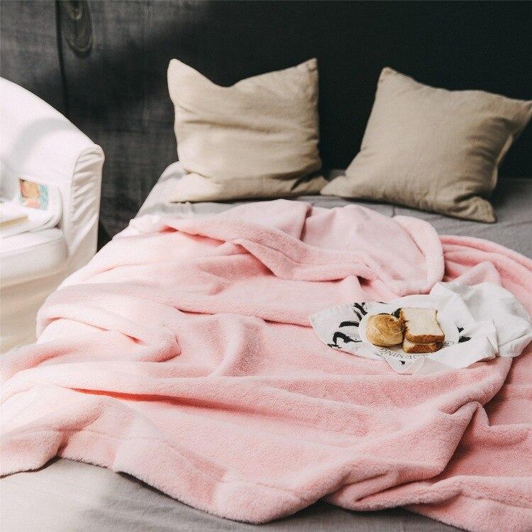 Nouvelle mode fourrure chaude Ultra douce couverture photographie fond tapis solide couleur lapin velours daim canapé-lit sieste couverture