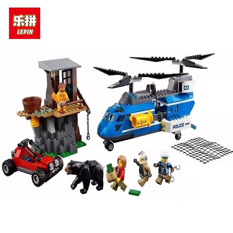 02089 339pcs City Police Mountain Arrest Capture Lepin Building Block Compatible 60173 Brick Toy lepin 02036 298pcs city truck building block compatible 3221 brick toy