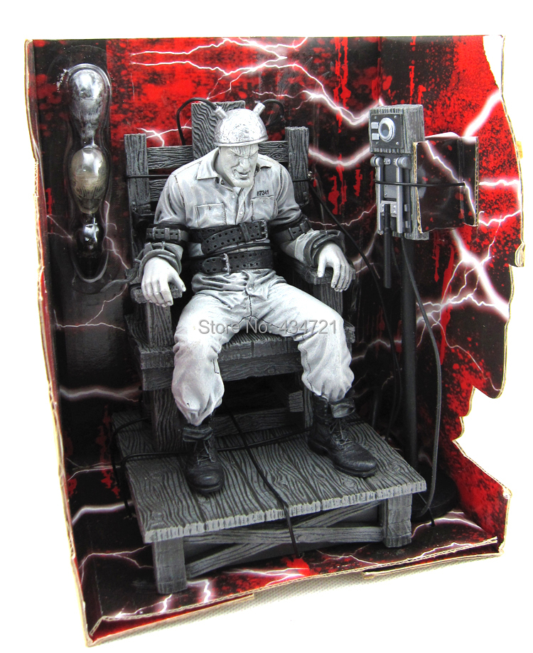 ФОТО Hot Classic Comic Robert Rodriguez Movie Sin City Marv Death Row Electric Chair NECA 18cm Action Figure Toys Retail Box