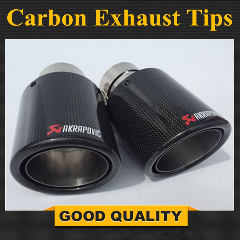 2 PCS M Performance Akrapovic carbon fiber Exhaust Tip for BMW Series M3 M4 M5 2012- car-styling car exhaust new m performance carbon exhaust tip for bmw series m3 m4 m5 2012 car styling akrapovic car exhaust muffler nozzle tip