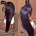 9а класс 100% виргинский бразильский парики / фронта парики Glueless шелковистая прямая человеческих волос парики ребенка волос для черных женщин